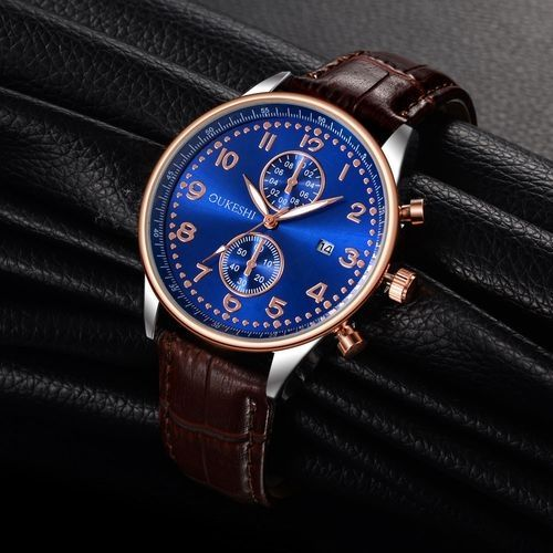 4cf5e60ac Generic Men Luxury Stainless Steel Quartz Military Sport Leather Band Dial  Wrist Watch F
