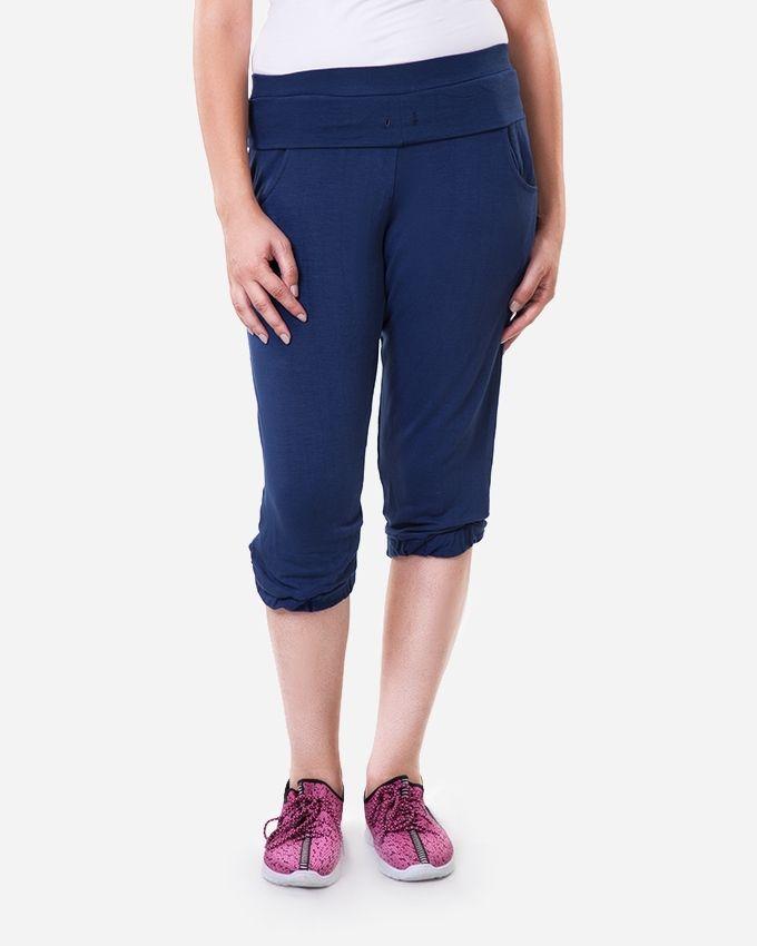 Solo Terry Capri Pants - Navy Blue