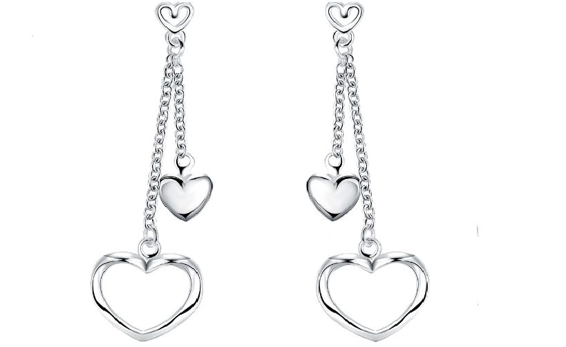 b2eed2fad Generic 925 Sterling Silver Earrings Double Layered Heart Shape. updating  Prices