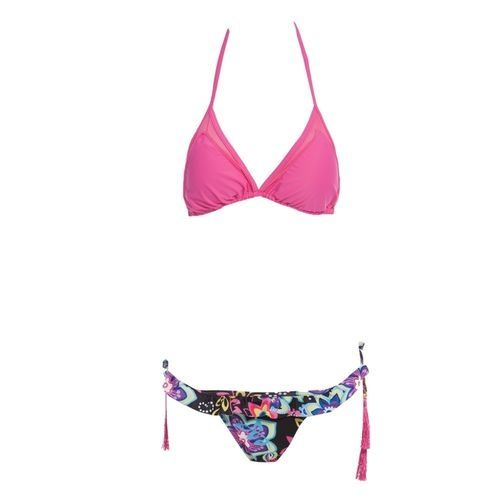 Generic Women Strap Floral Pattern Bikini Set - Pink