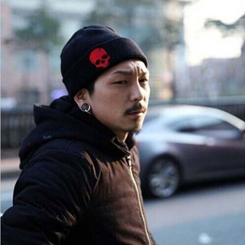 09ea80644d2699 Fashion Men Women Hip-Hop Warm Hat Autumn Winter Cotton Wool Knit ...