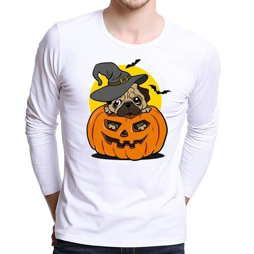 e2fddfdac29 Eissely Men Plus Size Printing Tees Shirt Long Sleeve T Shirt Blouse YE L-  Yellow