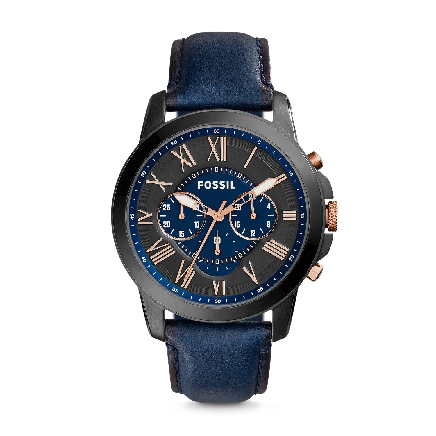 9a28e9d2c Fossil Fossil Grant Analog Blue Dial Men's Watch - FS5061 ...
