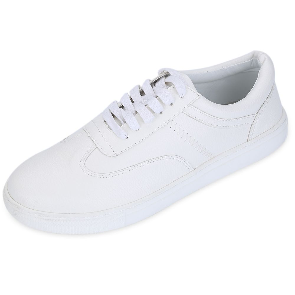 b4dd0170c Fashion Casual Solid Color Round Toe Lace Up Comfortable Sports Shoes for  Ladies