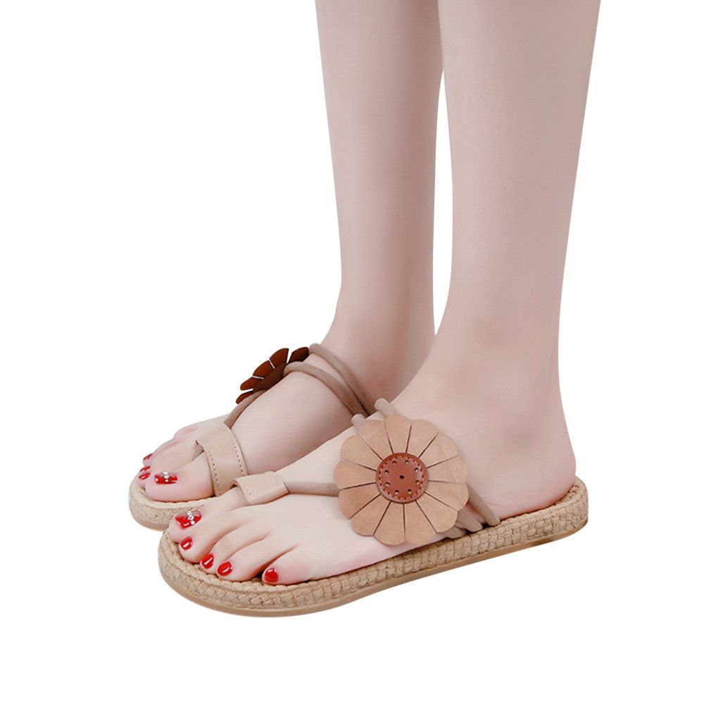 6ac7d9fff75dd Fashion Blicool Shop Women Sandals Women Flower Flat Shoes Bandages ...