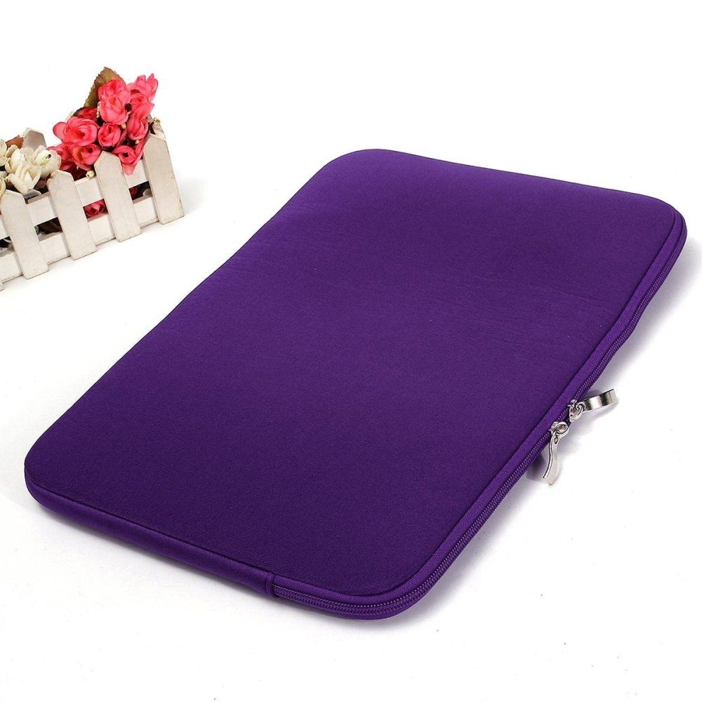 Universal New Notebook Bag For Macbook 13 Sleeve Case Cover Woolen Felt Laptop Softcase Air Pro Retina Ipad Mini Up To Inch Laptop13inch Purple