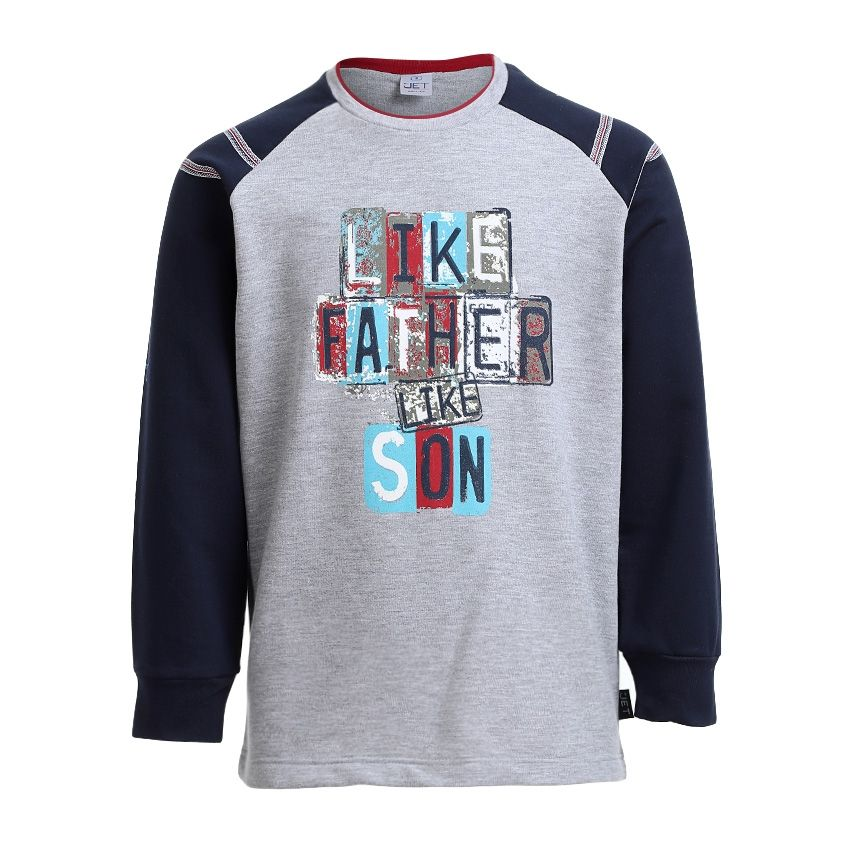 8f5cd50e4bca3 TED MARCHEL By Brands For Less Printed Casual Full Sleeves Home Hoodie -  Grey