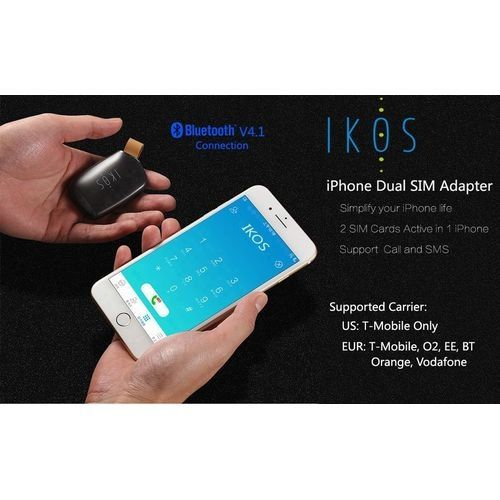 Ikos Bluetooth Dual SIM Card Adapter For iPhone Price in