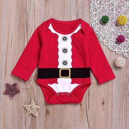 61ce98a8e3fe Znu Newborn Infant Baby Boys Girls Christmas Long Sleeve Red Jumper ...