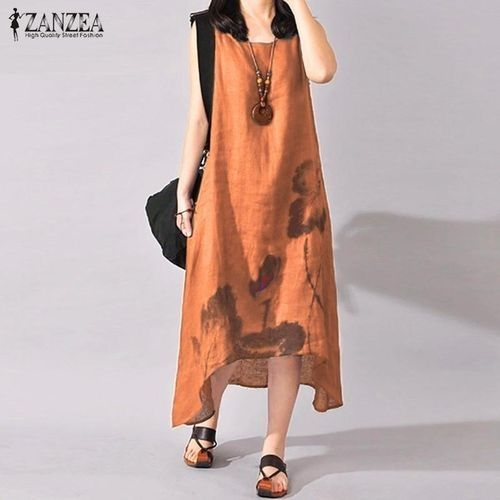 dd9e836a46b06 ZANZEA ZANZEA Plus Size S-5XL Women Sleeveless Loose Cotton Linen ...