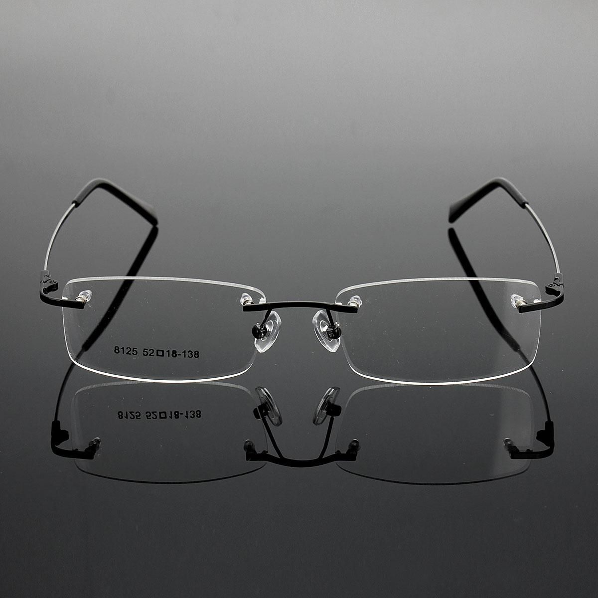 36a41c5c31b Buy Generic Rimless Glasses Lightest Rx Optical Eyeglasses Memory Titanium  Spectacles Frame Black in Egypt