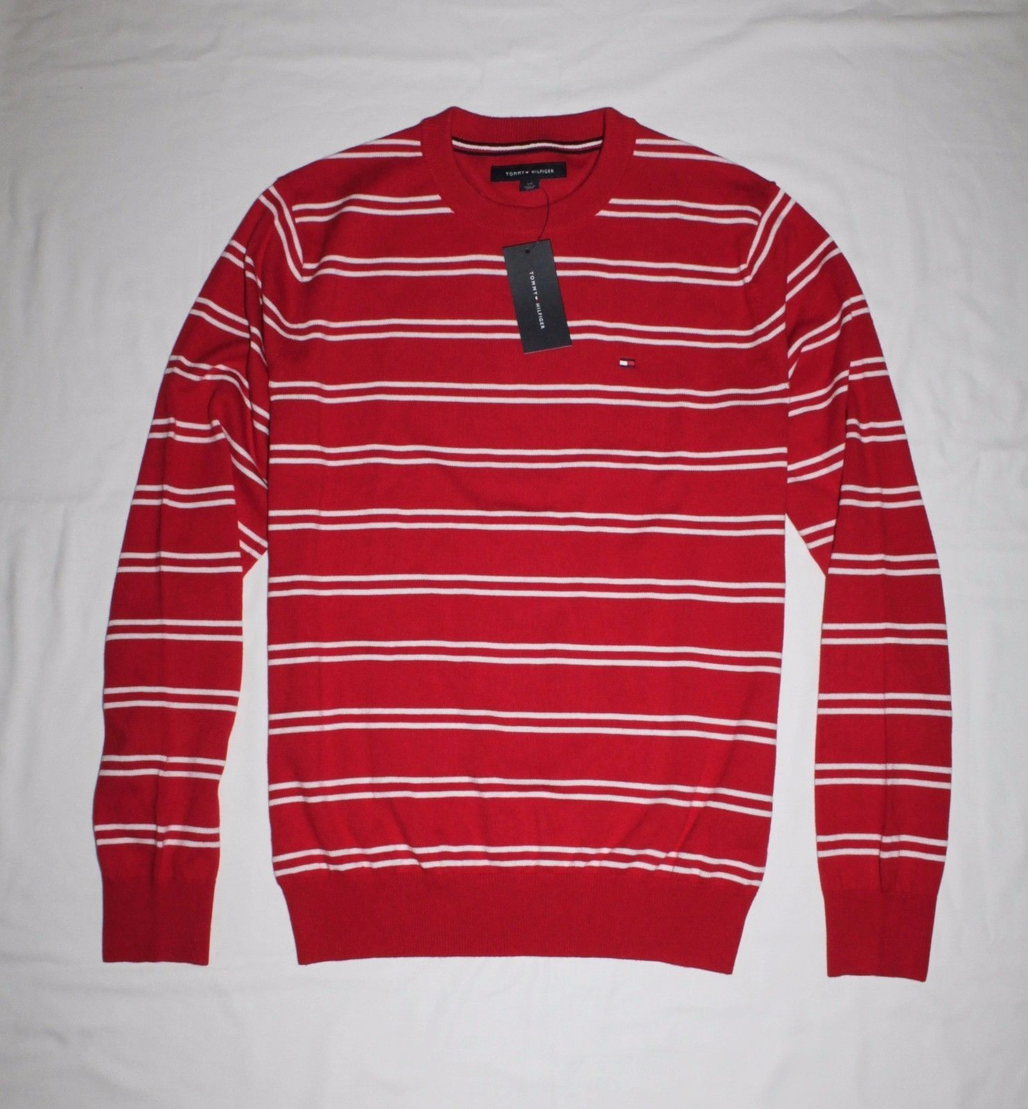903a92e1 Tommy Hilfiger Classic Double Stripe Men`s Sweater - Red Price in ...