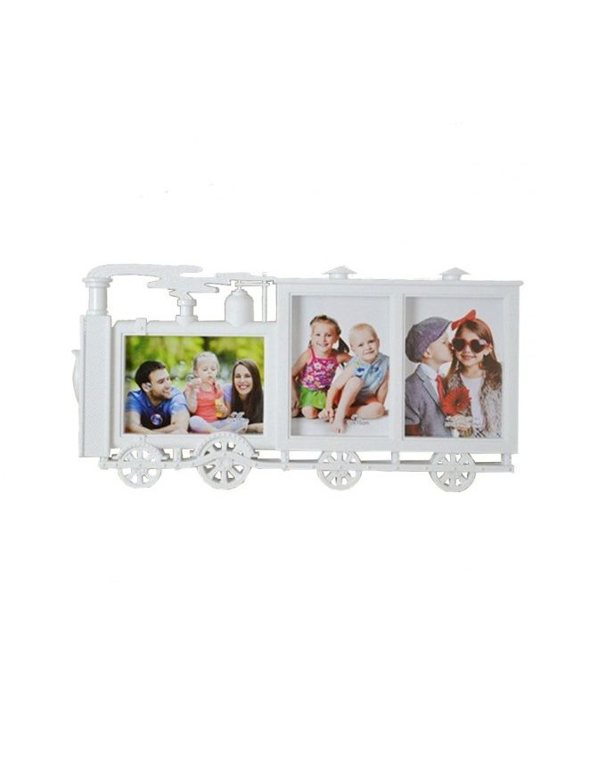 Train Shape Photo Frame - White