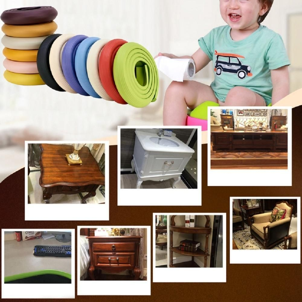 Louis Will Safe Edge And Corner Cushion U2013COFFEE Premium Childproofing Guard  Child Home Furniture Safety Bumper Baby Proof Table Protector