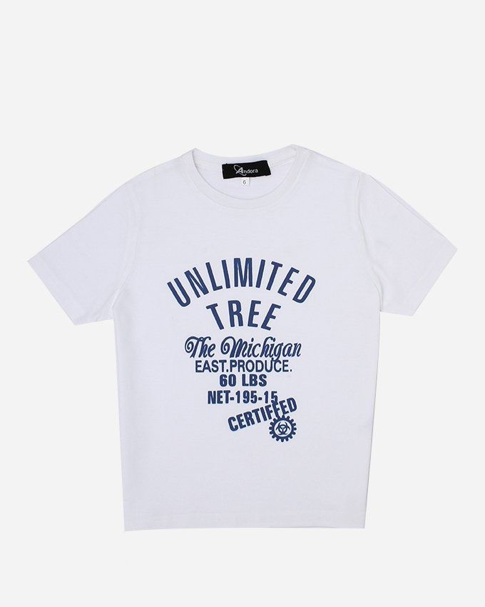 """Andora """"UNLIMITED'' Printed T-Shirt - White"""