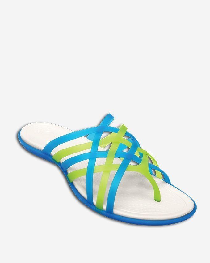 41cede527077 Crocs Huarache Flip-Flop Women-Ocean Oyster
