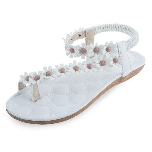 27df185098f795 ... Generic Bohemia Elastic Band Flower Decoration Ladies Flat Flip-flop  Sandals-WHITE (UK  Sandymarket SIKETU Bohemia Beads ...