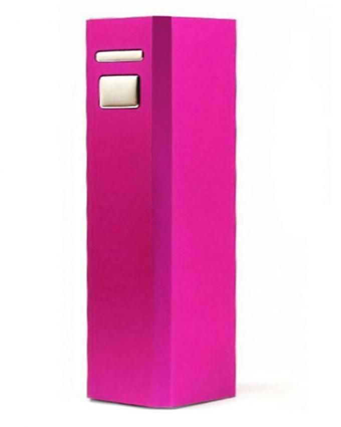 intercon 2600mAh - Single Square Tube Power Bank - Pink