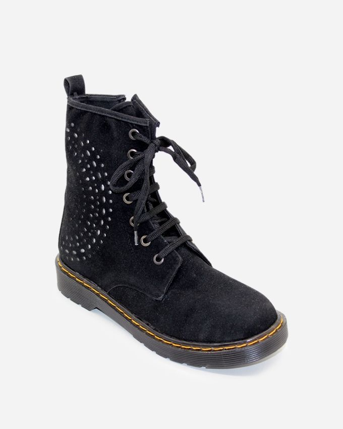 Tata Tio Casual Half Boot with Studs - Black