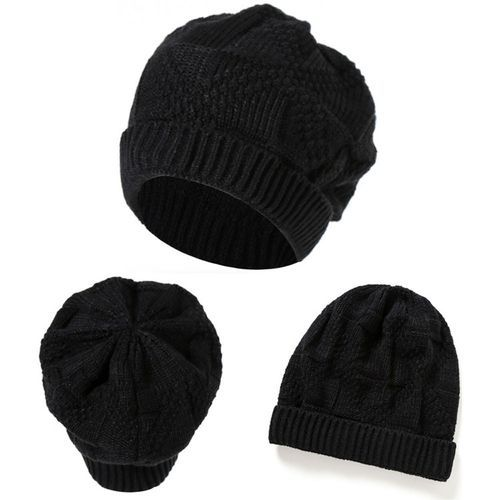 350fcc5ef8b Eissely Men Women Knit Baggy Beanie Oversize Winter Hat Ski Slouchy Chic Cap  Black