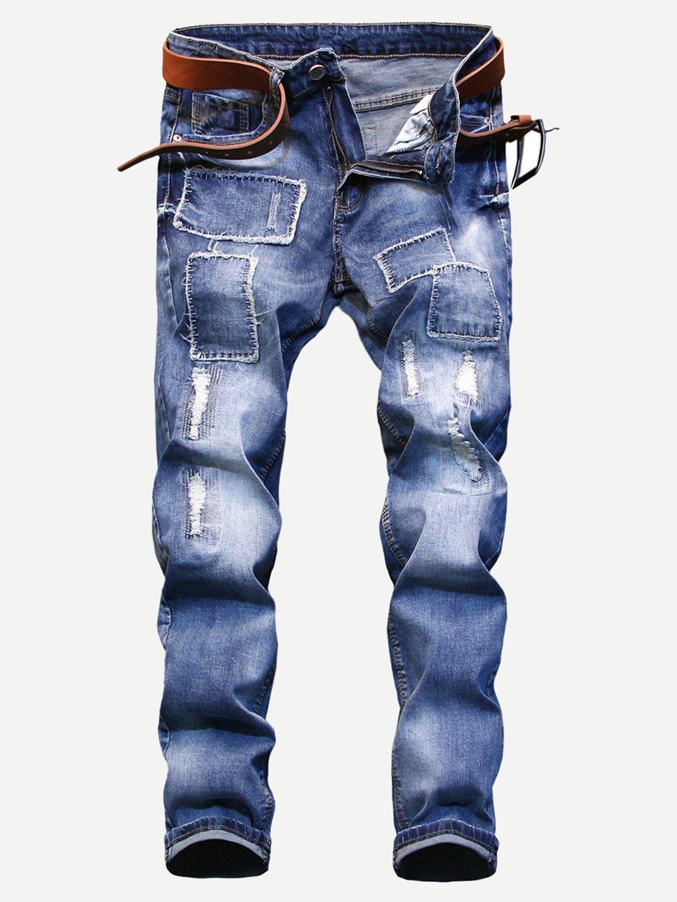 b3243b4dc4e1 SHEIN Men Ripped Skinny Jeans Price in Egypt | Jumia | Pants | kanbkam
