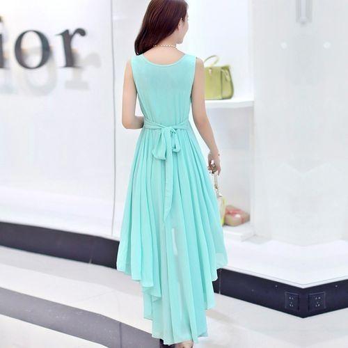 1f980d8475 Generic Elegant Swallowtail Chiffon Ladies For Dresses Women Blue ...