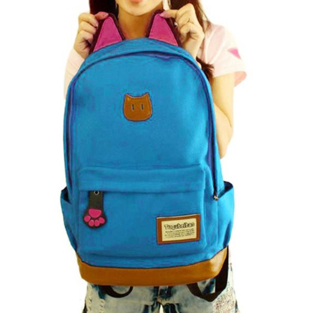 cf6c487636b Cute Blue Canvas Backpacks - CEAGESP