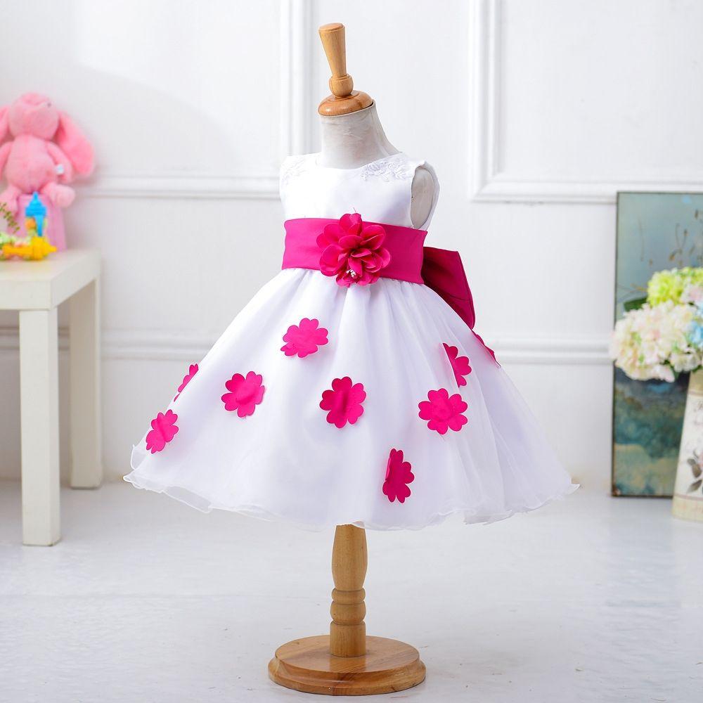 75edb5aef171 Generic Girl s Petal Princess Dress Costume Flower Girl s Bow Dress ...