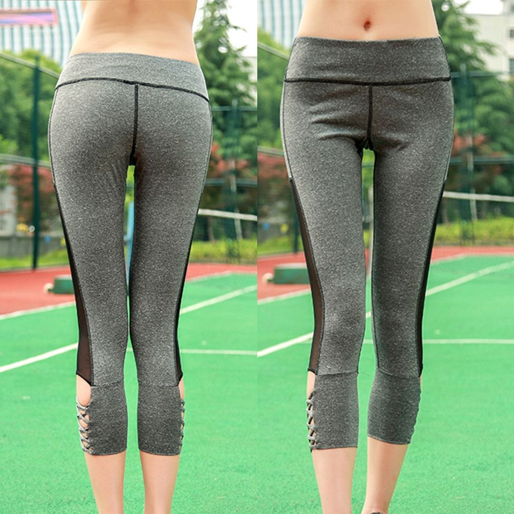 202d946fd Liplasting Female Sex High Waist Stretched Sports Pants Gym Clothes ...