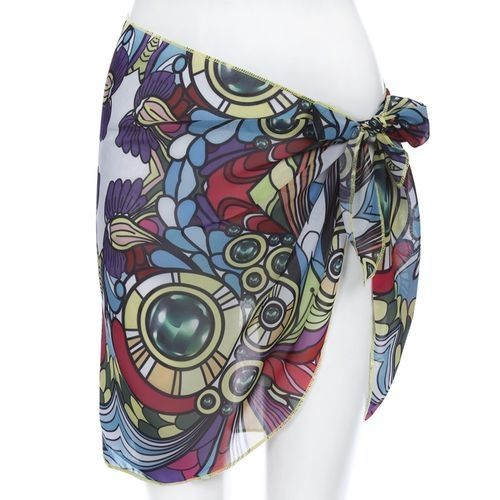 Zaful Women Chiffon Wrap Skirt - Multi
