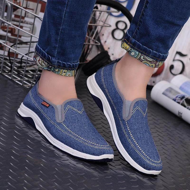328de14f172e01 Fashion Fashion Mens Slip On Canvas Shoes Walking Flats Loafers Casual  Driving Sneakers