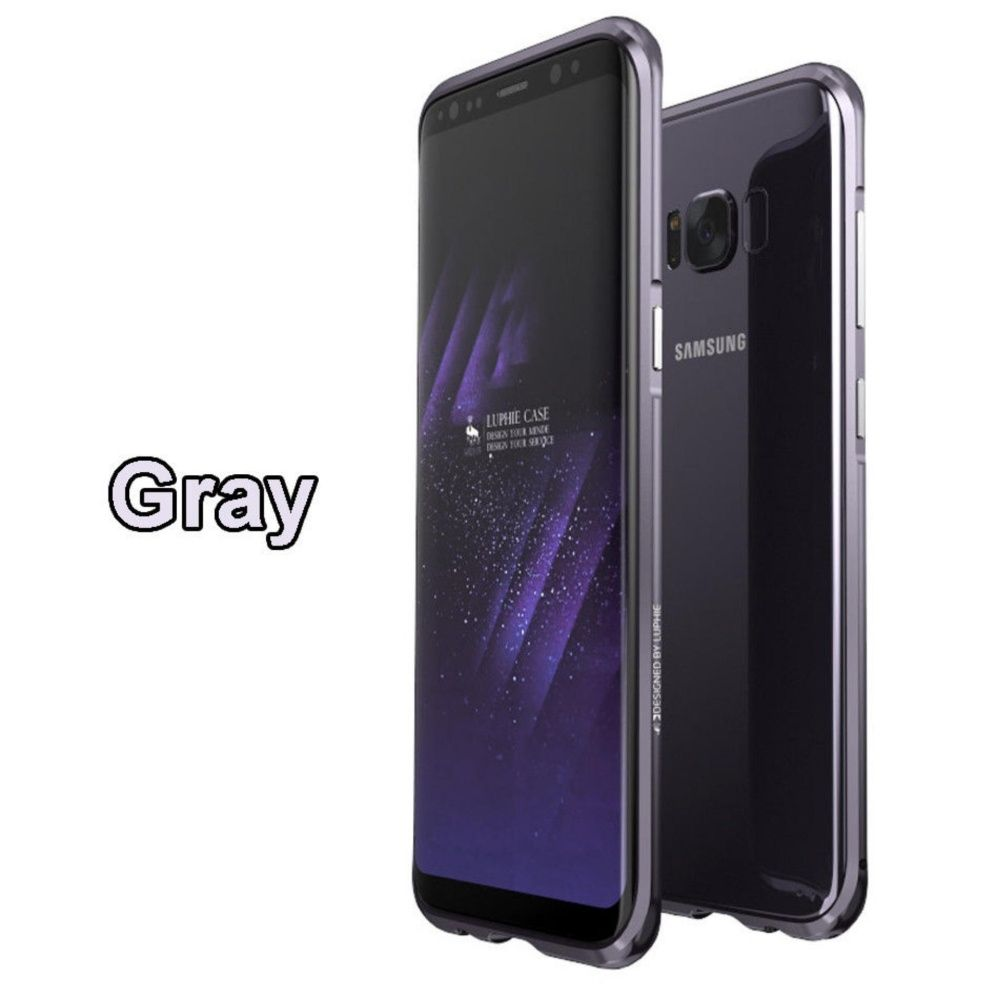 Generic Luphie Aluminum Metal Frame Bumper Back Case Cover For Samsung Note 4 Mirror Backcase With Aluminium Black Galaxy S8 178927