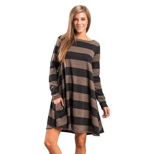 1a39200a49b7 Fashion Women Casual Long Sleeve Loose Checkered Plaid Swing Tunic T ...