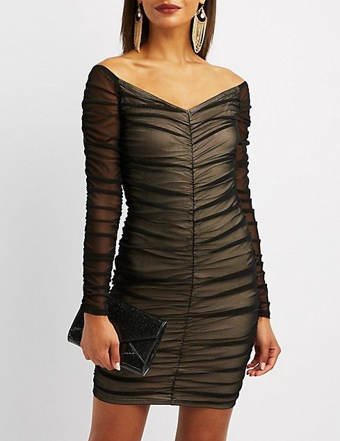 3b81973f597 Charlotte Russe Ruched Mesh Bodycon Dress Price in Egypt