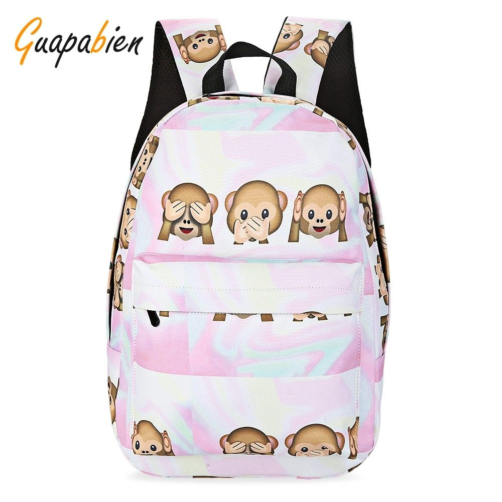 27e1857a91b Guapabien Preppy Style Print Backpack School Bag For Girls   Bags ...