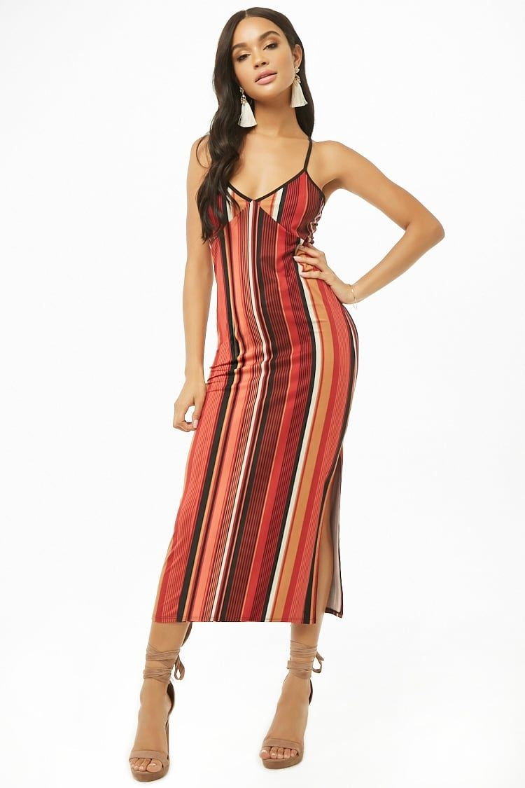 746d20aee58 Buy Forever21 Striped Bodycon Midi Dress in Egypt