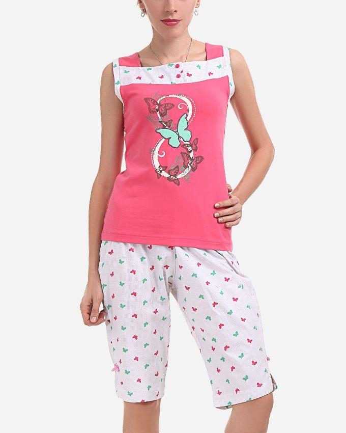 "Andora ""Butterfly""Pajamas Short - Rose"