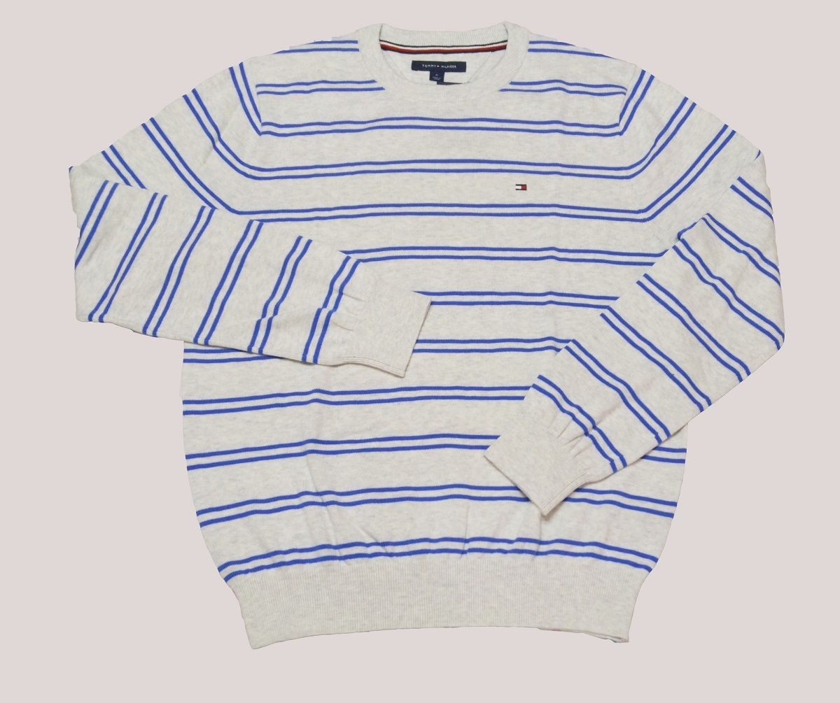 786320ac Tommy Hilfiger Classic Double Stripe Men`s Sweater - Gray Price in ...