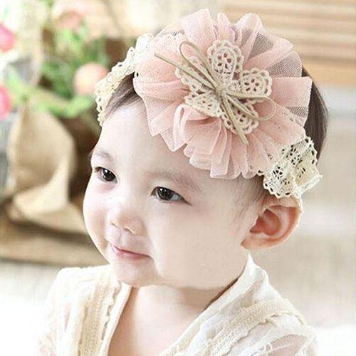 62e829e9bb1 No Brand Baby Girl Toddler Headband High Elastic Nylon Flower Design ...