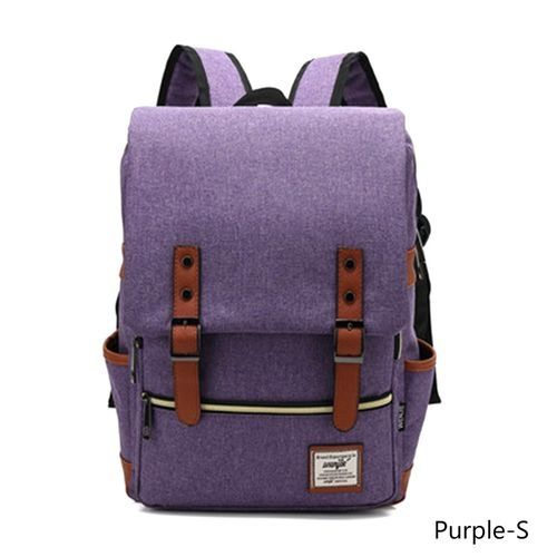 e29ebb8ff4 Fashion Men and Women Vintage Casual Canvas Backpack Travel Bag School  Backpacks