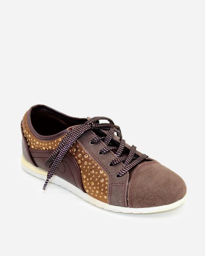 Tata Tio Lace Up Sneakers - Coffee