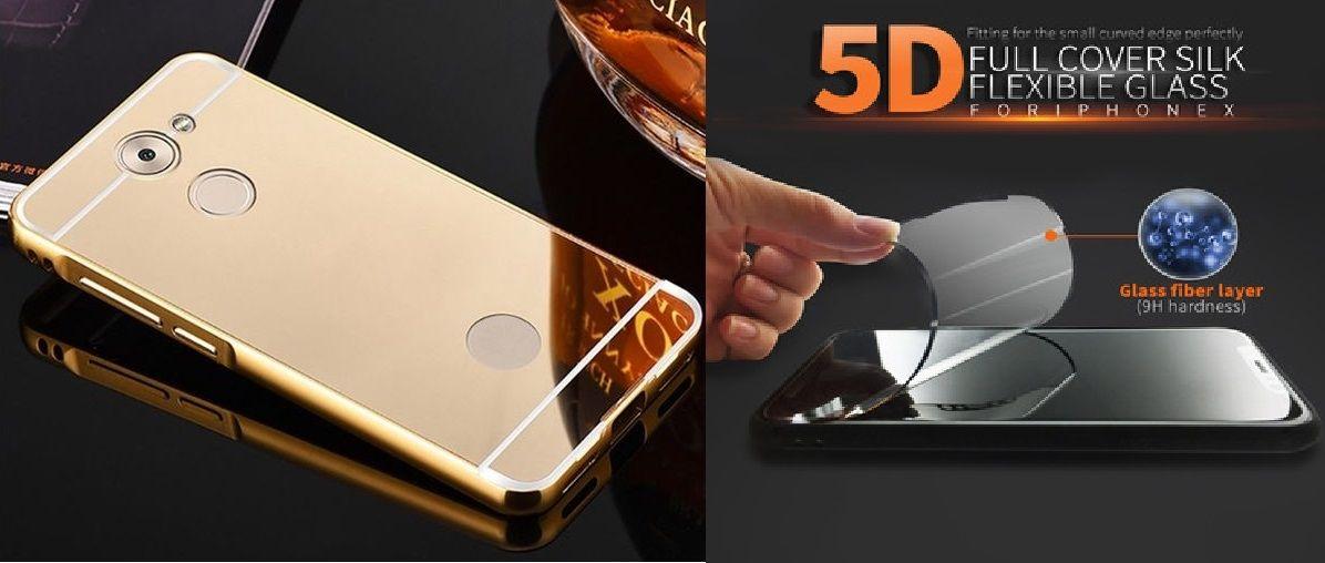 سعر Generic Bundle Of 2 (Mirror Case (Gold ) + Nano 5D