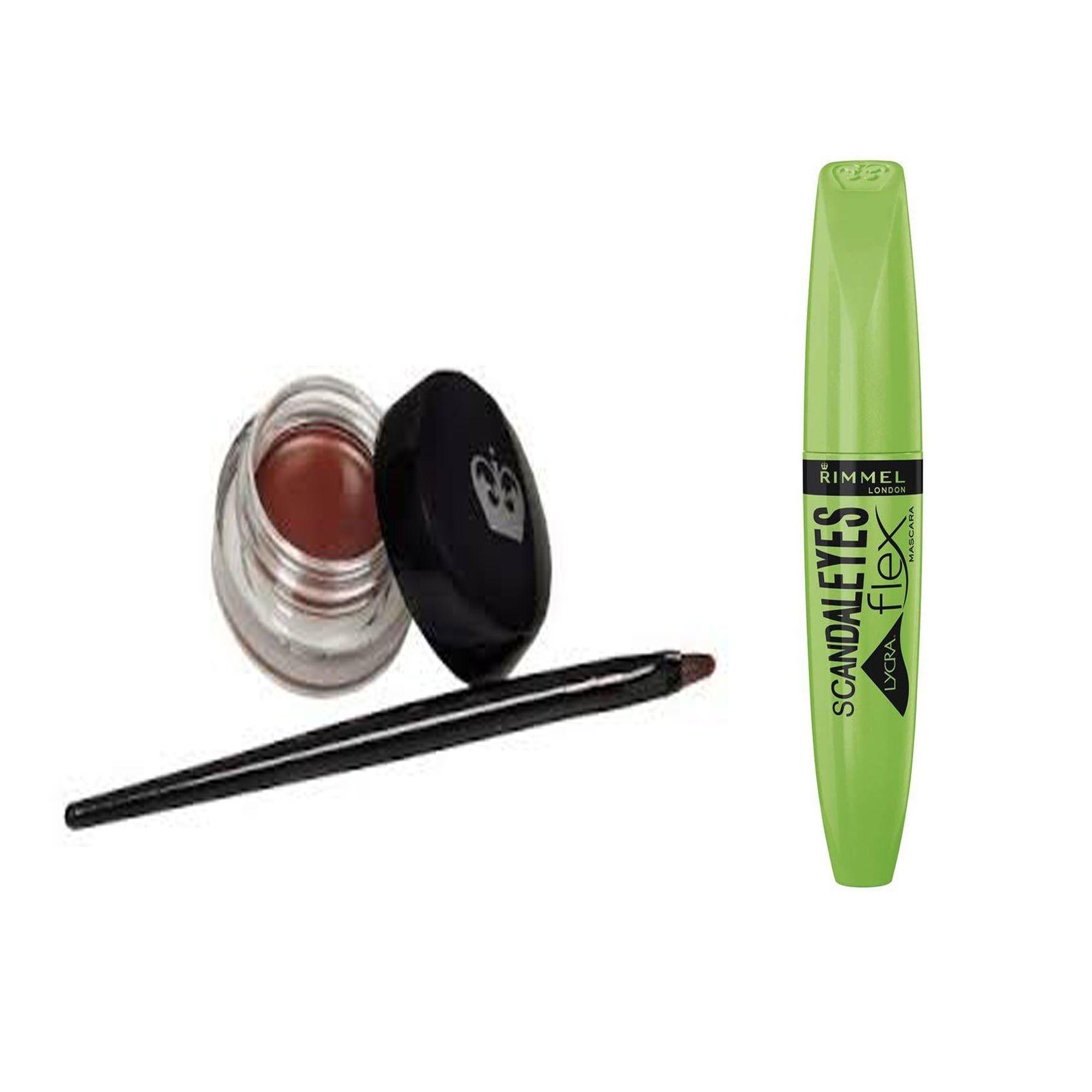 84d92ba2a9f Rimmel Scandal Eyes Lycra Flex Mascara - Black + Scandal Eyes Waterproof  Gel Eyeliner - 002 Brown