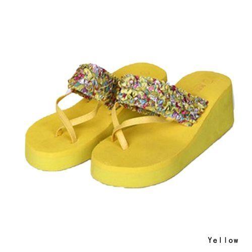 3e0aca6a2 Fashion Hot Sale Summer Women Wedge Platform Thong Slippers Sandal Bohemia Beach  Flip Flops Shoes