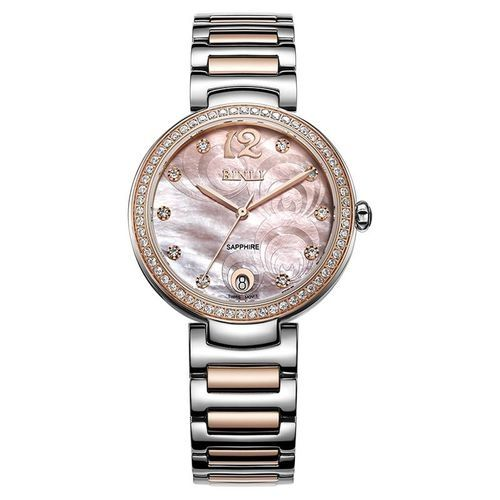 1a126dba3e5b2 Louis Will Binli Watches Female Fashion Diamond Watches Calendar Shell  Pattern Surface Trend Bracelet Watch Authentic Watch (Pink)