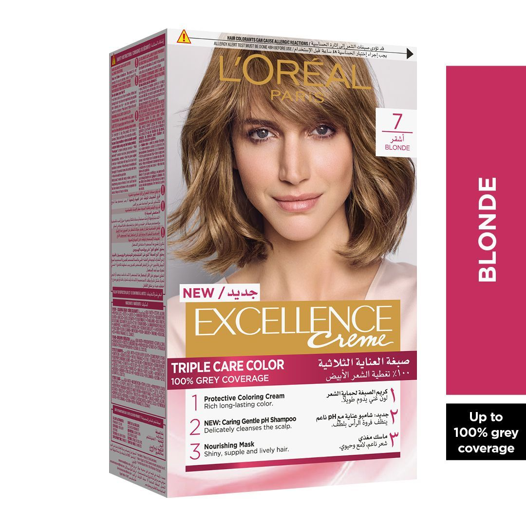 Loreal Paris Excellence Crme Hair Color Blonde 7 Hair Care