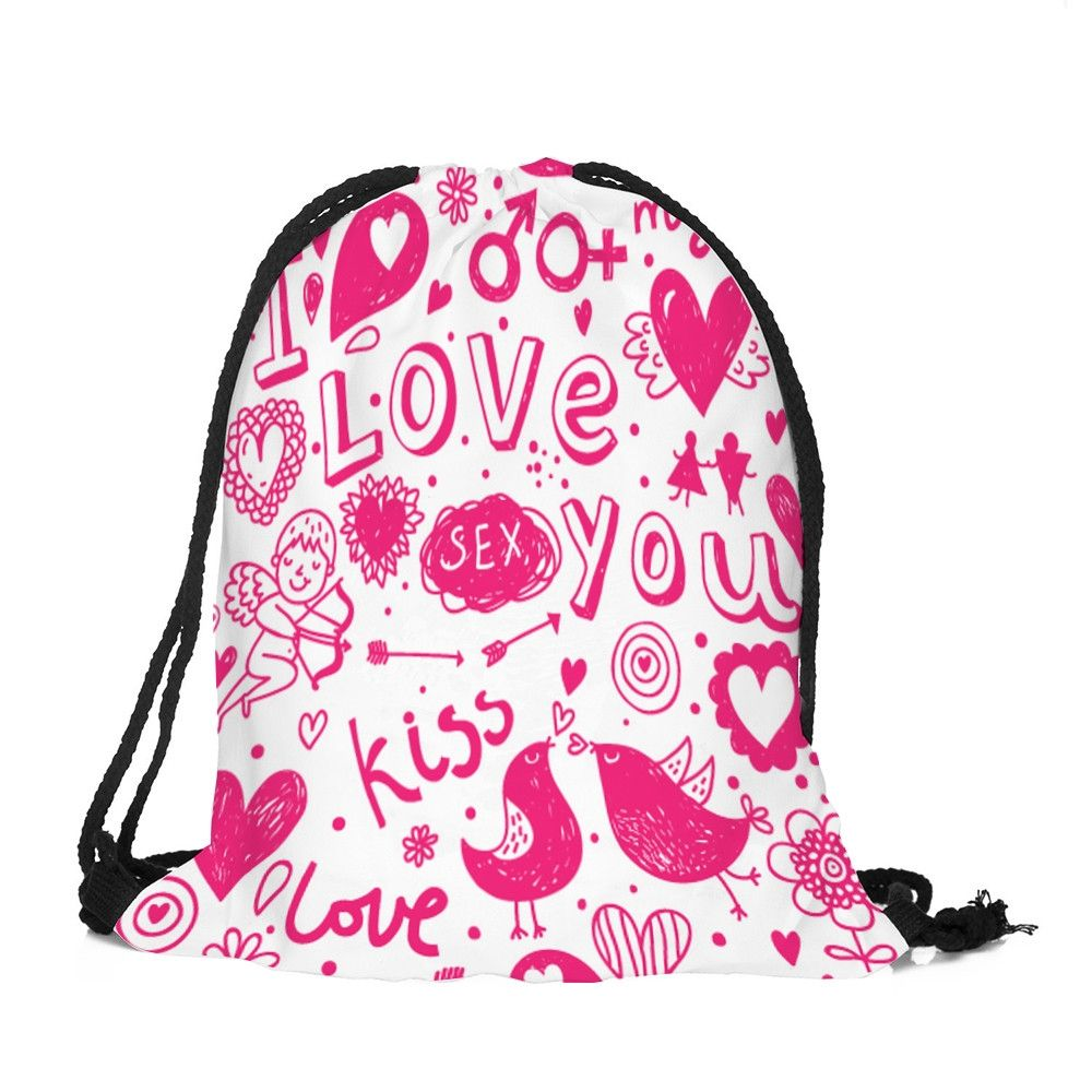 51db7265be71 Generic Tectores Fashion Trend Valentine s Day Drawstring Bag Sack Sport Gym  Travel Outdoor Backpack Bags C Gift