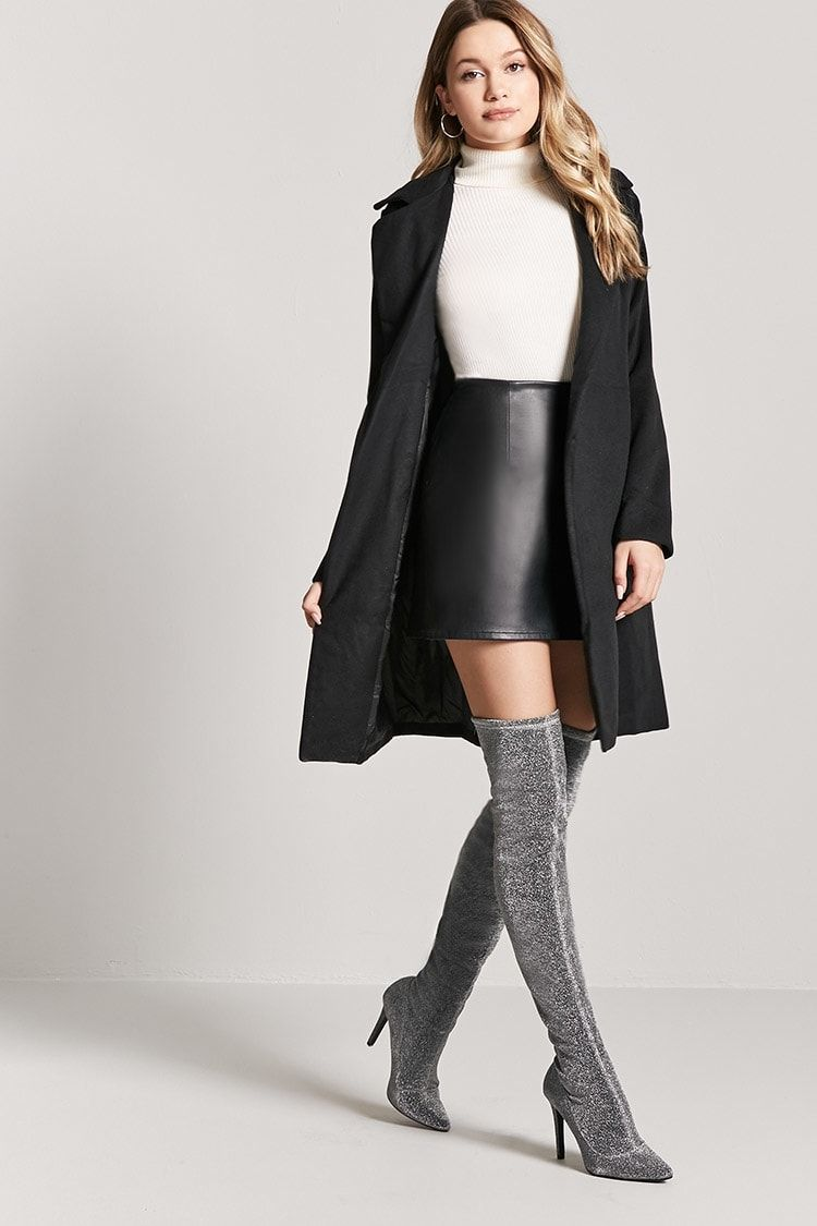 312603015ef Buy Forever21 Metallic Over-the-Knee Boots in Egypt