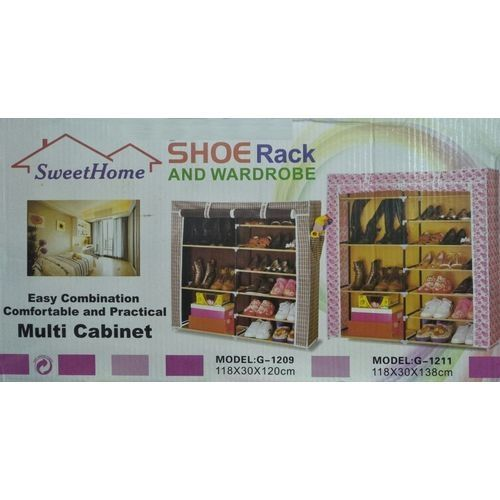 7b873b9880c Generic 4-5 Layer Double Shoe Rack Organizer - Brown Price in Egypt ...