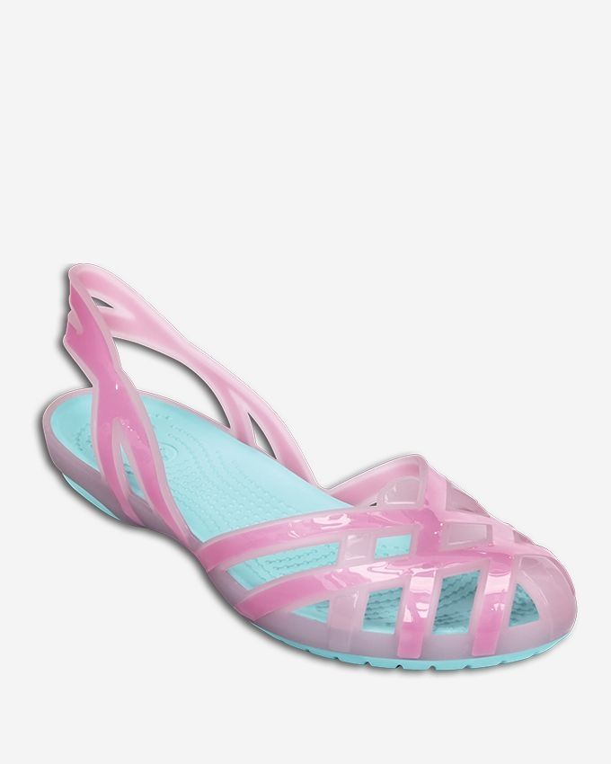 20eb76d03424 Crocs Huarache Slingback Flat Girls J-Bubblegum Ice Blue Price in ...